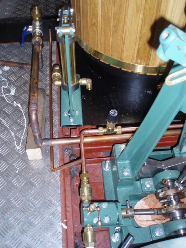 Del av matarvattnets rörsystem